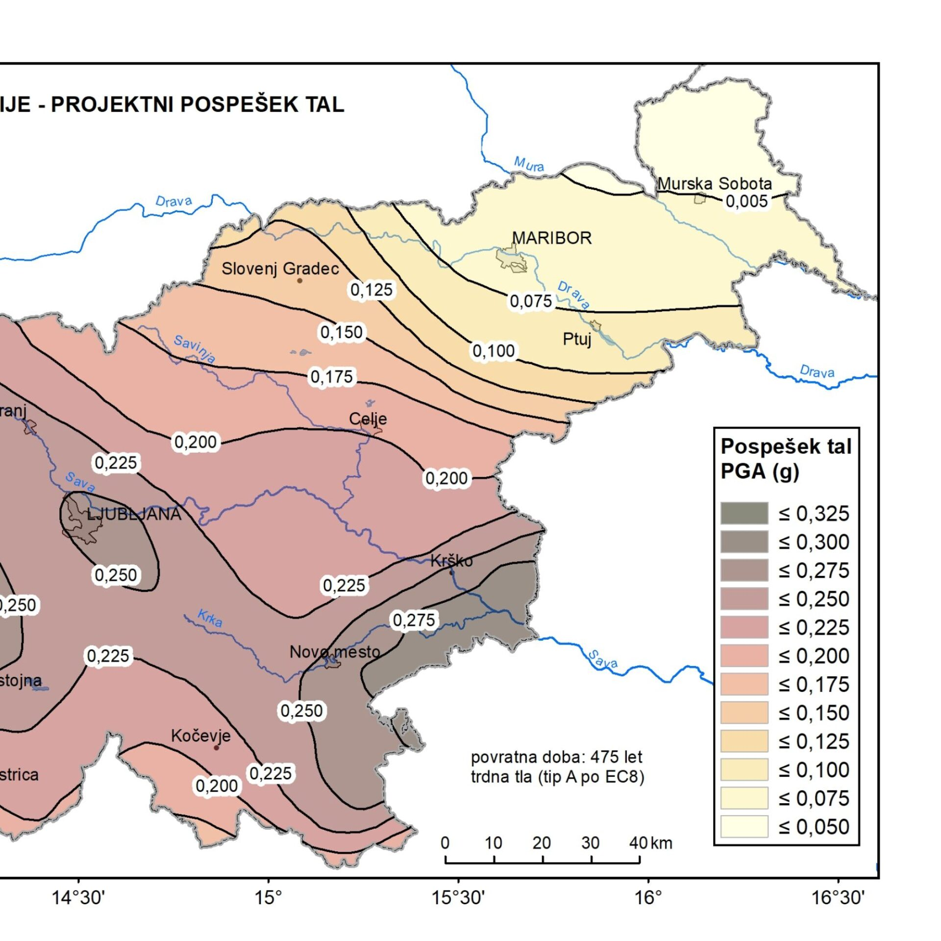 Nova karta potresne nevarnosti Slovenije